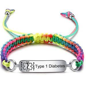 Pre-Engraved Type 1 Diabetes Medical Alert ID